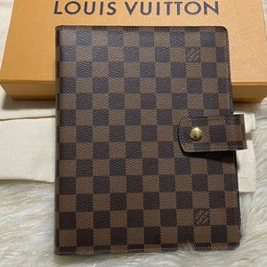 Louis Vuitton Damier GM Large Notebook Agenda +Box